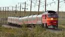 Скорый, фирменный поезд №42 Москва - Воркута. Съёмка Воркутинский район.