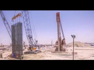 Возведение самой высокой башни в мире (ОАЭ)