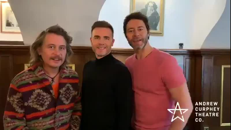 Thank you @takethat for our surprise 10th anniversary message it was so kind of you to record and send it! @GaryBarlow @Official