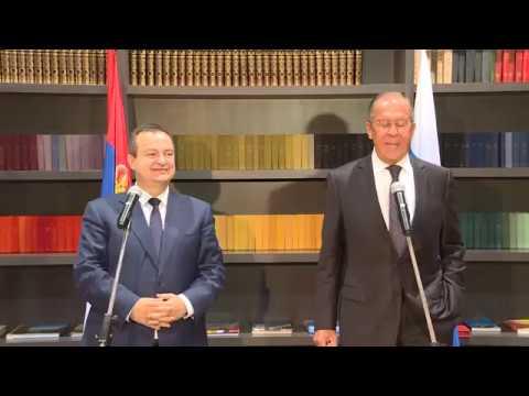 Пресс конференция С Лаврова и И Дачича