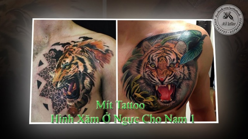Hình Xăm Ở Ngực Cho Nam 1 - Mít Tattoo