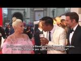 Леди Гага и Брэдли Купер — Интервью на красной ковровой дорожке Венецианского кинофестиваля (RUS SUB)