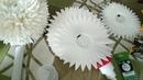 Светильник хризантема из изолона настольный