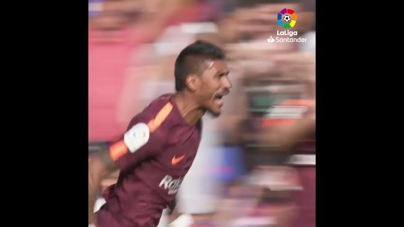Первый гол Паулиньо в LaLiga