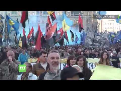 Ukraine : une manifestation nationaliste réunit 15 000 personnes à Kiev