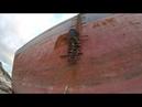 Теплоход Рио севший на мель в Кабардинке