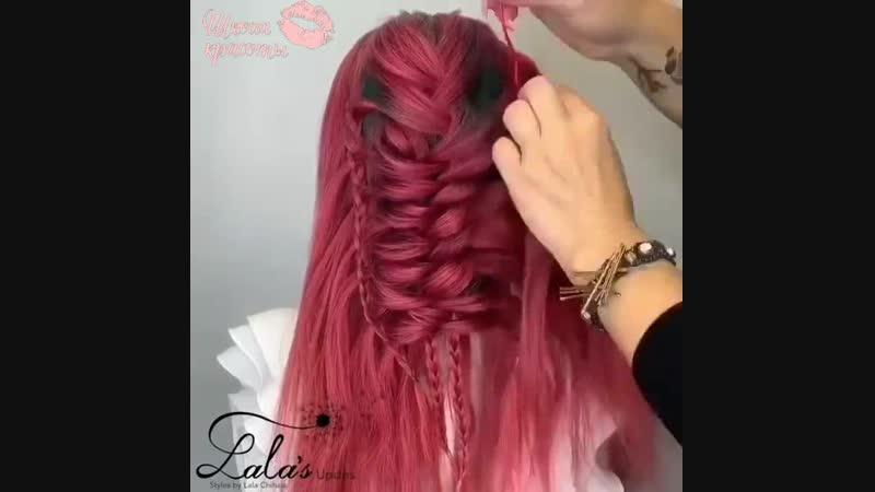 Красивая объемная коса