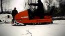 Возим дрова снегоход Буран