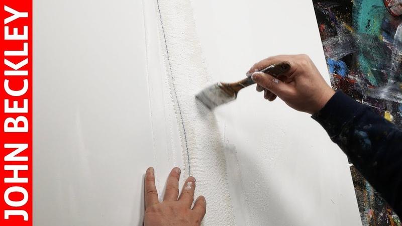 Peinture Abstraite À l'Acrylique Avec Collage | Guide