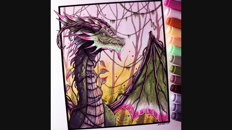 Lets Draw a JUNGLE DRAGON - FANTASY ART FRIDAY