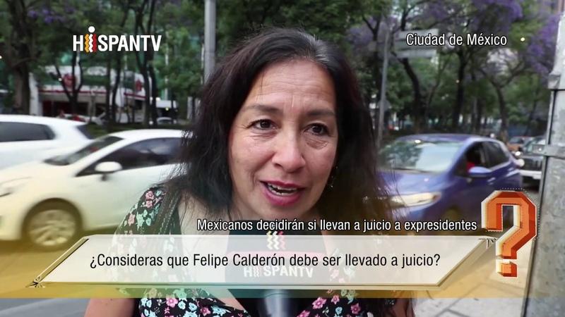 ¿Consideras que Felipe Calderón debe ser llevado a juicio?