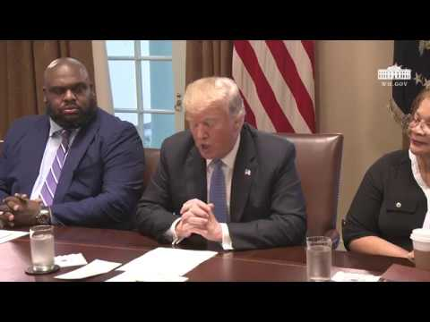 President Trump Meets with Inner City Pastors