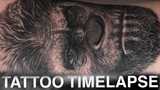 TATTOO TIMELAPSE CAESAR PLANET OF THE APES PORTRAIT CHRISSY LEE