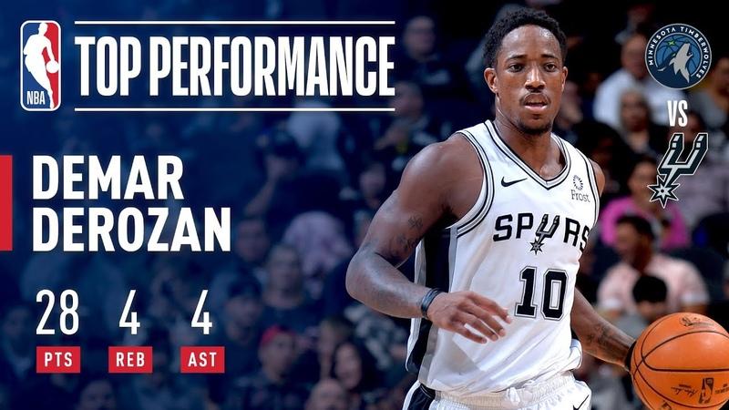 DeMar DeRozan Season Debut With The San Antonio Spurs   October 17, 2018 NBANews NBA Spurs DeMarDeRozan