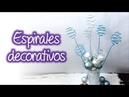 Espirales decorativos de diamantina glitter decorative spirals