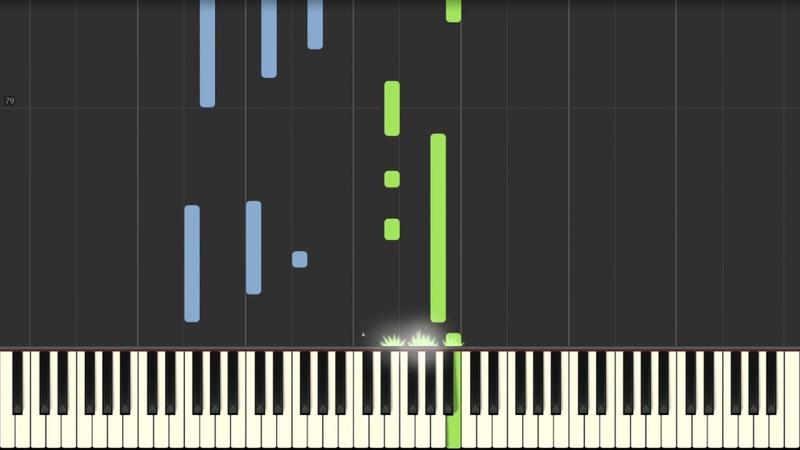 Ludovico Einaudi - Una mattina - Piano Tutorial (Synthesia)