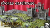 Edoras Gatehouse & Palisade Wall Lord of the Rings Gaming Board ~ Rohan Terrain Tutorial Part 1