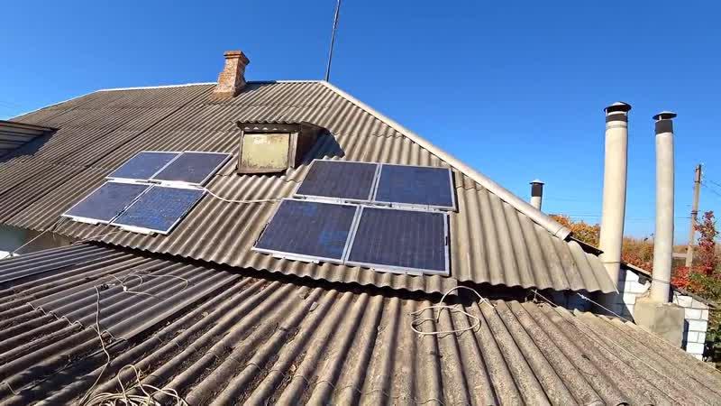 Бюджетная мощная Солнечная Электростанция из доступных элементов своими руками ютуб