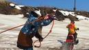 На сноубайке по воде Snowbike and skis on water