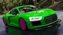 Мультики про Машинки для детей. Гонки на Audi TT по городу. Цветные Машинки Мультик Игра