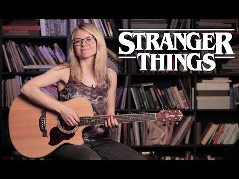 Как играть Stranger Things Main Theme   Разбор COrus Guitar Guide 65 (fingerstyle)
