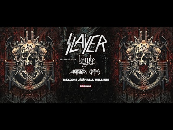 Slayer, Lamb Of God, Anthrax, Obituary 8.12.18 Helsinki. Finland. video Alex Kornyshev