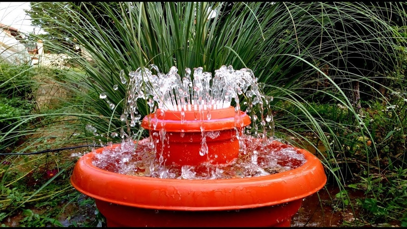 How to make Outdoor Fountain used Plastic Pots DIY