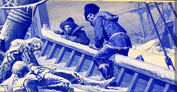 ЗАГАДКА ДЛИНОЙ В ПЯТЬ ВЕКОВ: ГИБЕЛЬ ЭКСПЕДИЦИИ УИЛЛОБИ «Некоторые из умерших были найдены сидящими с пером и бумагой перед ними, другие сидящими за столом с тарелками в руках и ложками во рту,