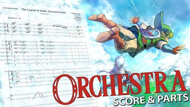 The Legend of Zelda: Skyward Sword Credits (Staff Roll) - Orchestral Cover - Score Parts