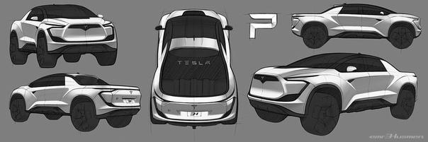 Автомобильный дизайн: концепция Tesla Picup