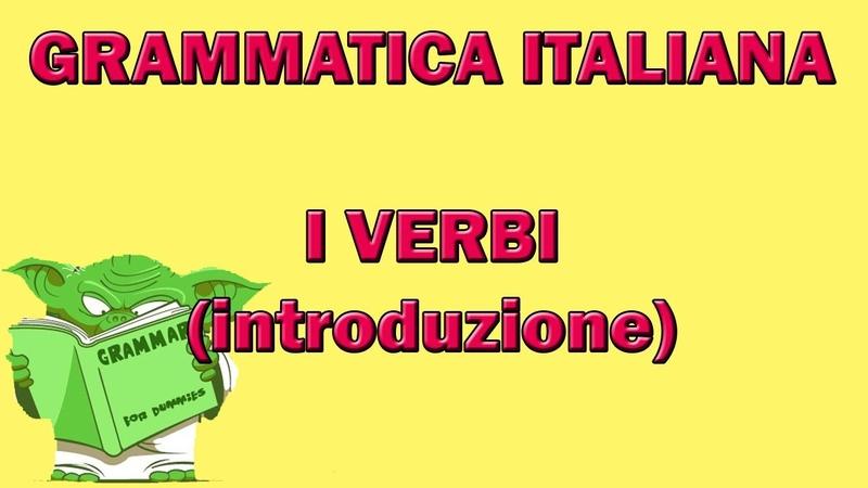 Introduzione ai verbi