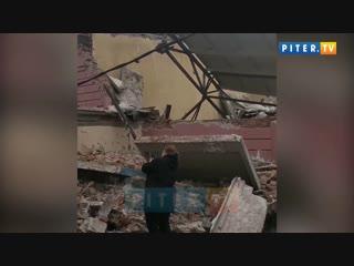 На Костромском проспекте обрушилось здание котельной