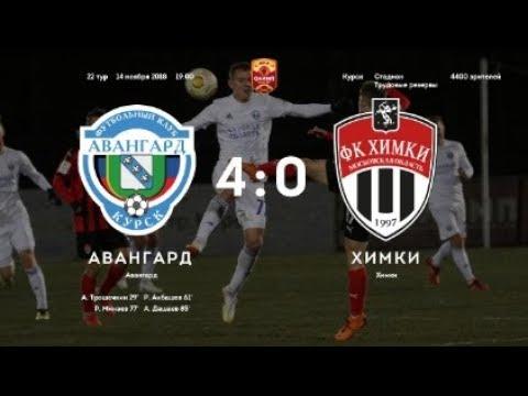 Авангард Курск - Химки 4:0 Обзор матча Чемпионата ФНЛ 2018/2019. 22-й тур.