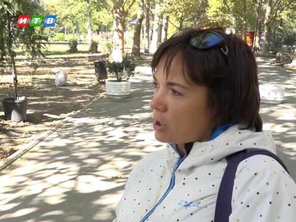 В парке им Гагарина снова высаживают деревья