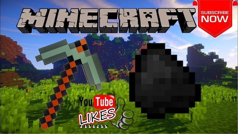 Добываю уголь и убил Эндермена (Выживание в Minecraft 1.13.1)