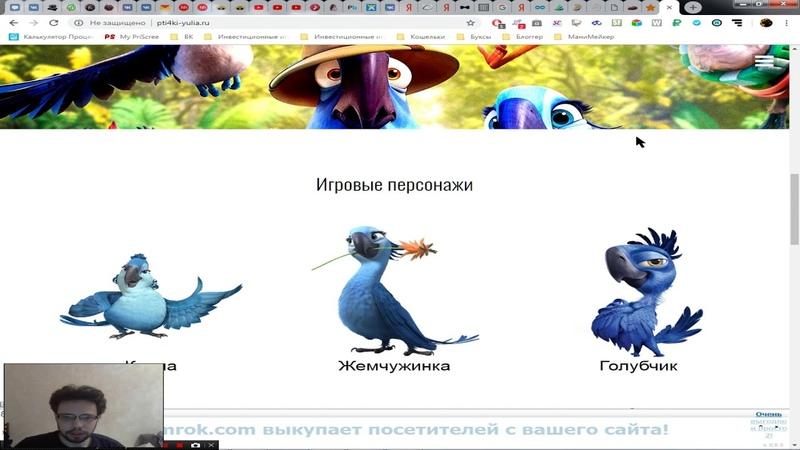 Птички от Юлии, очень красивый проект от легендарного админа!
