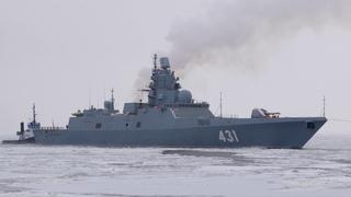 2018-12-21 - Первый выход на ЗХИ фрегата
