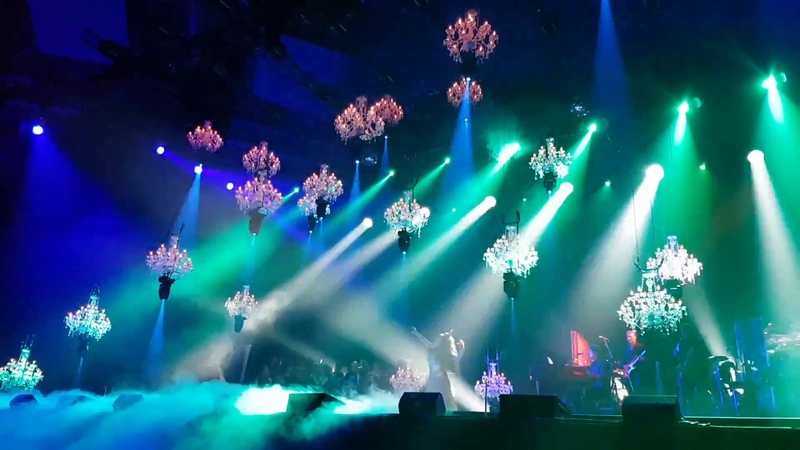 SARAH BRIGHTMAN MARIO FRANGOULIS Phantom of The Opera Poland 17 12 2017 r Łódź Atlas Arena