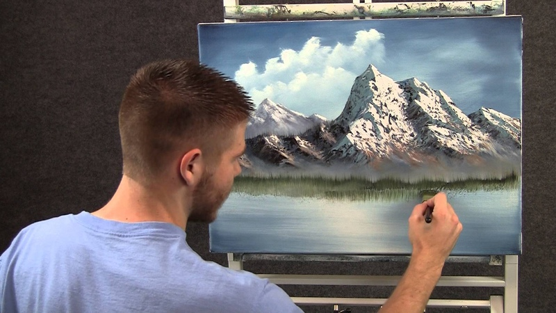 Paint with Kevin Spring Mountain wet on wet HD