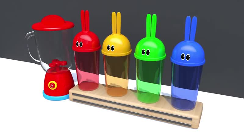 Learn Colors Bunny Mold Blender MM Chocolate Street Vehicle Nursery Rhymes for Kid Children » Freewka.com - Смотреть онлайн в хорощем качестве