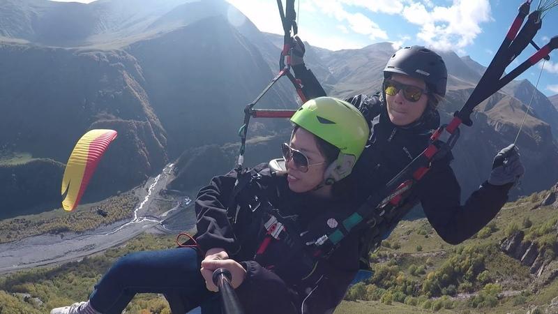 Полёт над парапланерным кемпинге SkyAtlantida с Аней Дарченковой