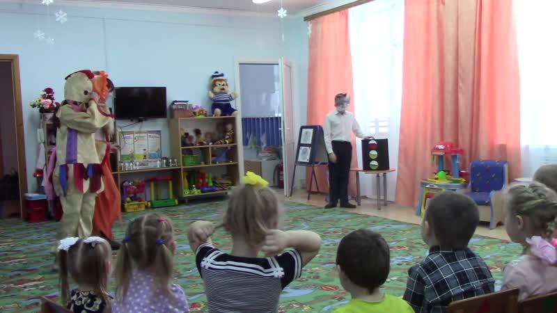 Выступление отряда ЮИД в детском саду Пономаревского района Оренбургской области