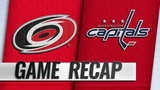 Aho scores second goal in OT, lifts Canes past Caps