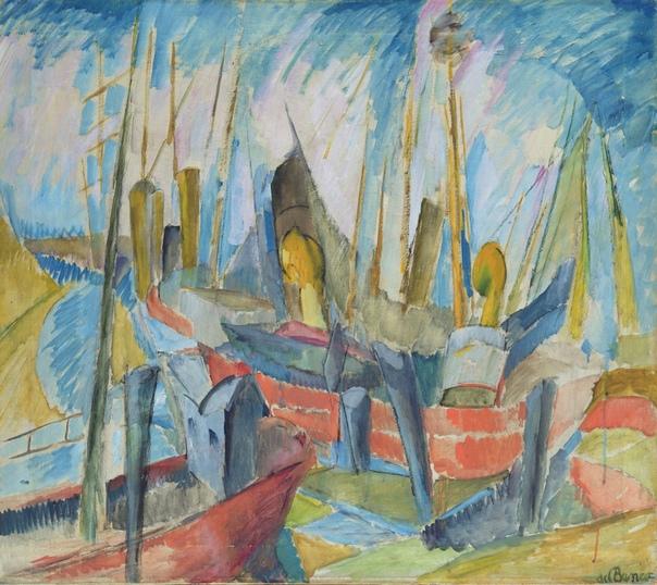 Alma del Banco (German, 1878 - 1943) - немецкая художница. Она была влиятельной фигурой в Гамбурге, а в 1919 году она была одним из основателей группы искусств Hamburgische Sezession. Тринадцать