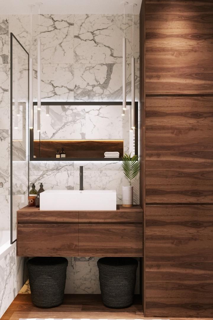 Проект ванной комнаты в г.