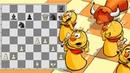 Пешки против фигур в партии шахматных движков