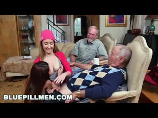 Blue pill men - old men living their best life with gigi flamez(домашнее порно,cumshot,частное,porno,sex,xxx,milf,первый раз)
