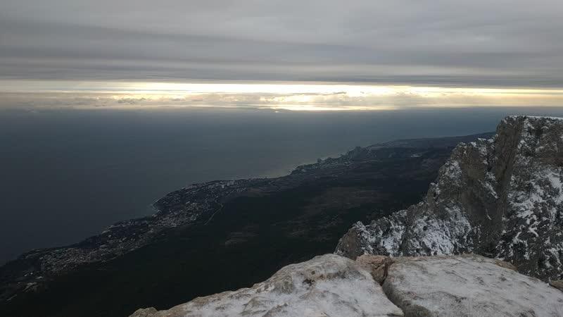 Зимний закат на Ай-Петри крымтур