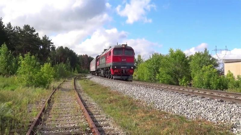 Тепловоз ДМ62 1777 с поездом № 112 Круглое Поле Москва