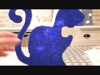 Diy декоративный светильник_ кот из пенопласта свечи.decorative foam lamp